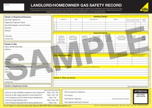 Landlord gas safety certificate