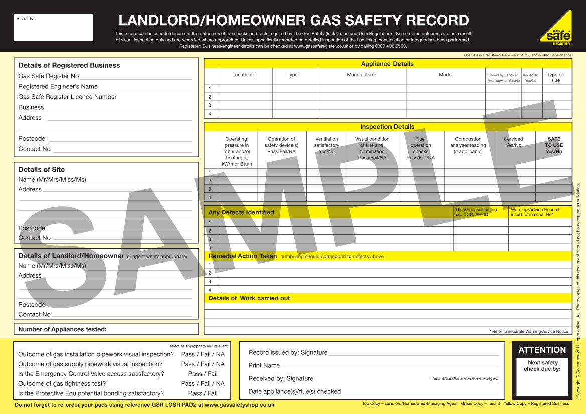 Landlord Gas Safety Certificate Uk Landlords Gas Safety