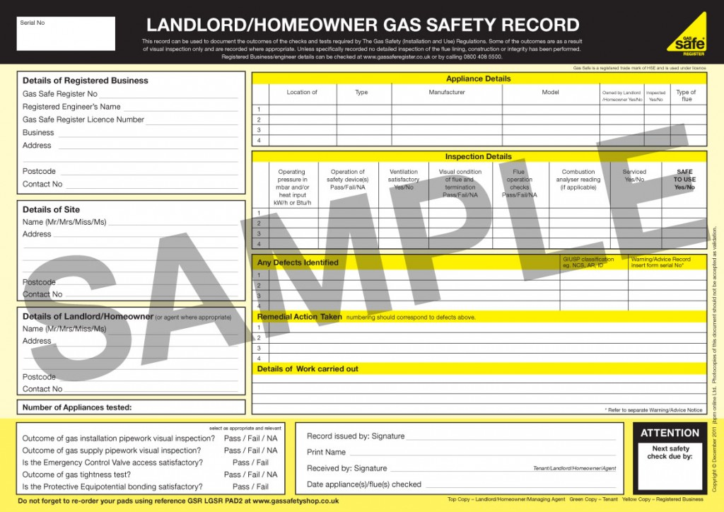 landlords gas safety certificate